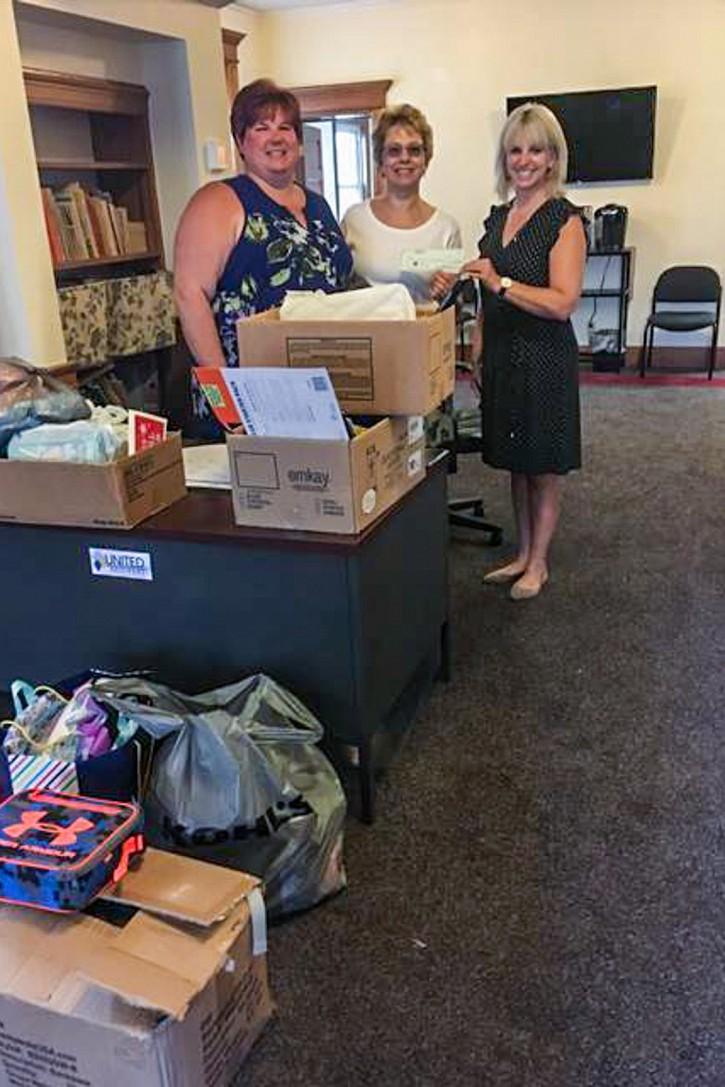 Stephanie Reitmeyer (GSVUW), Sandy Tosca (St. Michael's), and Joanne Troutman (GSVUW).