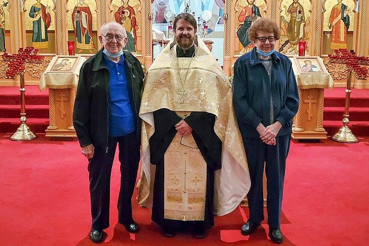Photo attached of Fr Innocent with Vasily & Mary Gurka